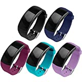 OenFoto Compatible with Gear Fit2 Pro/Fit2 Band, Replacement Silicone Accessories Strap for Samsung Gear Fit2 Pro SM-R365/Gear Fit2 SM-R360 Smartwatch -5-Pack