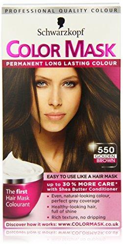 Schwarzkopf Color Mask 550 Golden Brown Permanent Hair Dye by Color Mask