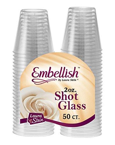 Embellish – Biccherini in Plastica rigida, da 60 ML, trasparenti. , plastica, Clear, 100 Pcs