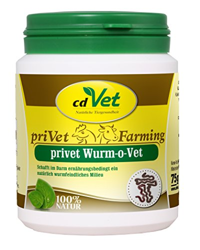 cdVet Naturprodukte privet Wurm-o-Vet 75 g - Schwein, Esel, Geflügel - Ergänzungsfuttermittel - Mangel an Kräuterinhaltsstoffen - Stärkung der Verdauung - überhöhter Wurmbesatz - Darmmillieu -