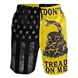Men's Fourth of July Patriot American USA Flag Swim Trunks Quick Dry Beach...