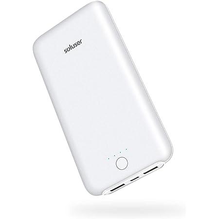 Soluser 24000mAh モバイルバッテリー大容量急速充電器 薄型 2USB充電ポートiPhone/ iPad/Galaxy/Xperia/Nexus/PSvita/タブレット/ゲーム機 等対応