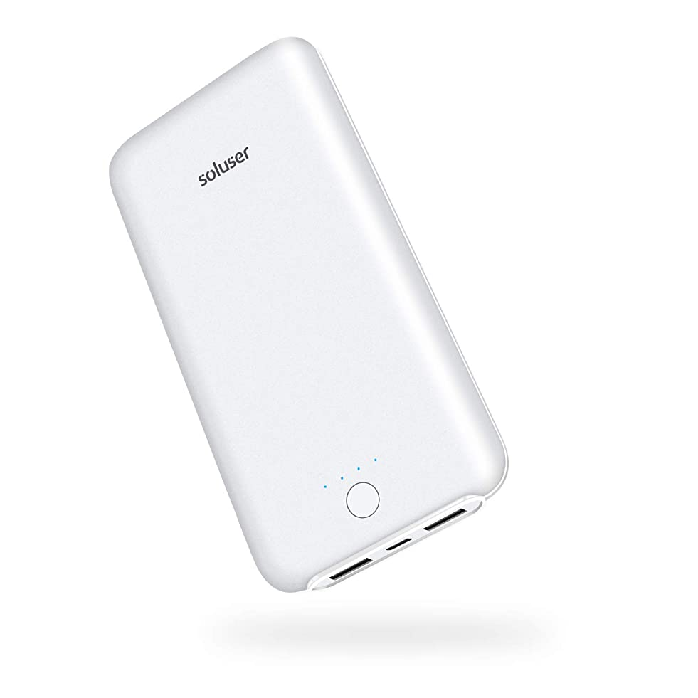 やけど人形ポルトガル語(2019年新版)Soluser 24000mAh モバイルバッテリー大容量急速充電器 薄型 2USB充電ポートiPhone/ iPad/Galaxy/Xperia/Nexus/PSvita/タブレット/ゲーム機 等対応