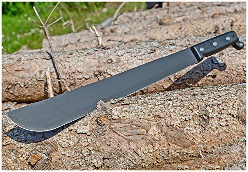 Evil Wear Outdoor Machete Schwarz Taktisches Einhand-Messer Gürtel-Messer 55cm