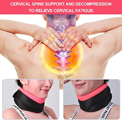 Neck Protective Belt Convenient Neck Support Belt Soft for Home Use for Relaxion for Relieve Cervical Fatigue for Effective Decompression(Orange, One Size)