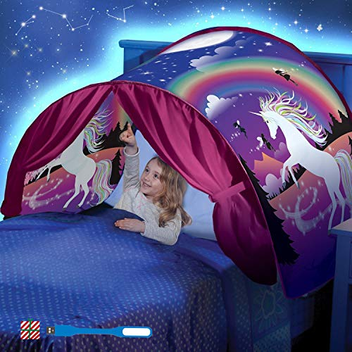 Tent-Pop Up Tents Bed Tents,Children's Tents, Game Tents Indoor, Space Tents, Children's Playrooms, Boys and Girls Christmas Birthday Gifts (Unicorn)