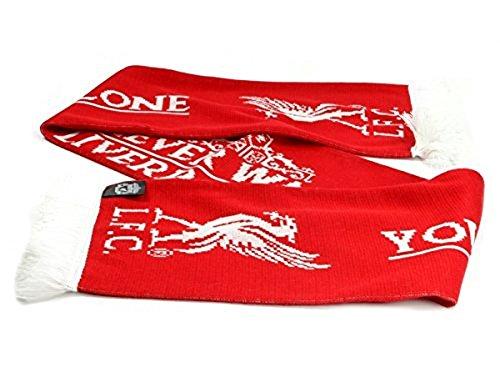 Liverpool FC U zult nooit lopen alleen Red White Fan Kroon Sjaal LFC Officiële