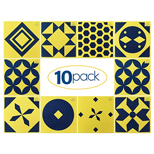 Walker Essentials Swedish Dishcloths -XL Reusable Paper Towels - Durable Cleaning Cloths for Kitchen, Dish Washing, Outdoors, and Bathroom -Odor-Free Eco-Friendly 70llulose-30%Cotton-10pack-Yellow