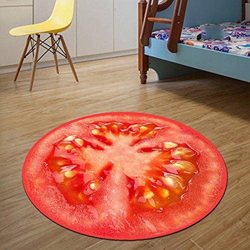 Chaise pivotante chaise tabouret chaise ordinateur chaise, chambre mignonne tapis, tapis rond de bande dessinée, salon tapis de yoga (Couleur : B, taille : 120cm)