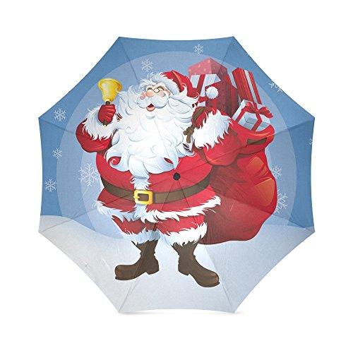 Papá Noel, el mejor regalo de Navidad, paraguas plegable de lluvia, paraguas/sombrillas