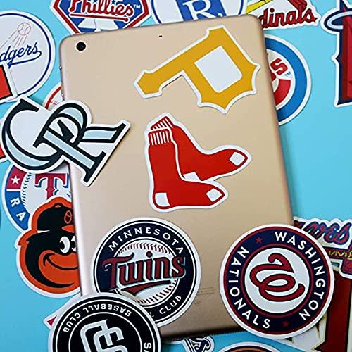 Waterproof Vinyl Sports Stickers Decals Pack 95Pcs - 32 Pcs Football 31 Pcs Baseball 32 Pcs Basketball Teams Logo Sticker for Laptops Water Bottle Kids Teens Boys Toddlers Adults