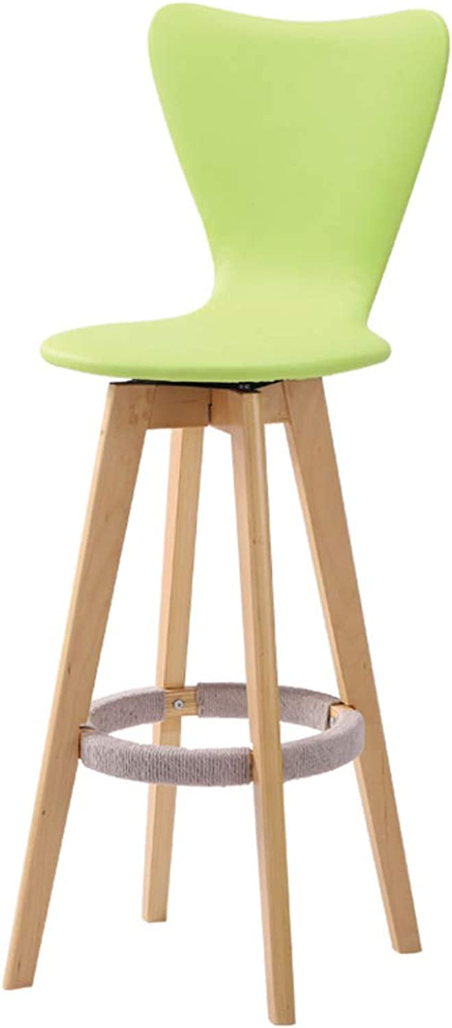 Solid Wood Bar Chair, Creative High Chair, European Wooden Bar Chair Fashion Bar Stool Simple High Stool