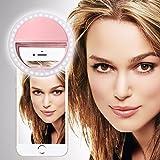 SISWOO R2 PHANTOM (Licht-Pink) Clip auf Selfie Ringlicht, mit 36 LED für Smartphone Camera R&e Form, von I-Tronixs