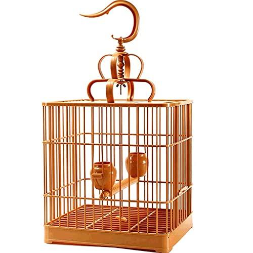 Gabbie per uccelli decorative Gabbia di volo da uccello quadrato con supporto per il rotolamento, gabbia per uccelli in plastica ad alta resistenza, gabbia per uccelli portatili per uccelli di dimens