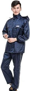GJNVBDZSF Terno à prova d'água, calça de chuva para ciclismo, motocicleta, adulto, capa de chuva dividida, conjunto imperm...