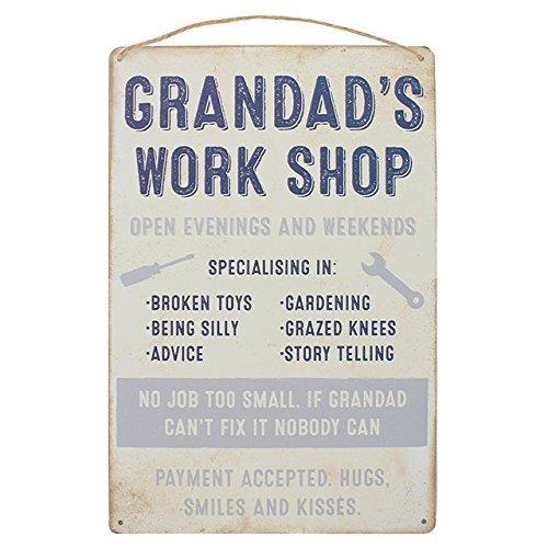 Jones Home and Gift Wall Plaque Grandad's Work Shop Hanging Sign