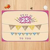 Schöne Life Series Bad Teppich 40x60cm25. Geburtstag Dekorationen, rosa Rahmen niedliche Flaggen mit Buchstaben Brennen Kerzenhalter Gesch Sehr weiche Badematte waschbar & rutschfest