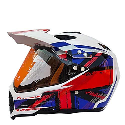 Men Off Road Full Face Motocross Helmet for Adult Winproof Antifog Motorbike Helmets With Visor Motorcycle Racing Cpas