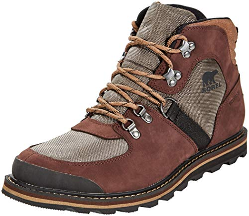 Sorel Mens Madson Sport Leather Hiker Snow Winter Ankle Waterproof Boots - Mud - 8