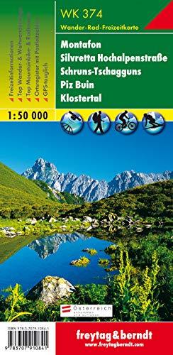 WK 374 Montafon - Silvretta Hochalpenstraße - Schruns-Tschagguns - Piz Buin - Klostertal, Wanderkarte 1:50.000