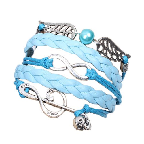 Fabulous Bijoux Bacelet Azul Infinito Karma Infinity Musique Amistad Hunger Games