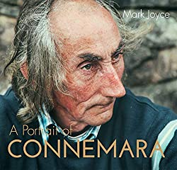 Book cover 'A Portrait of Connemara' depicting an old Irish man on the cover.