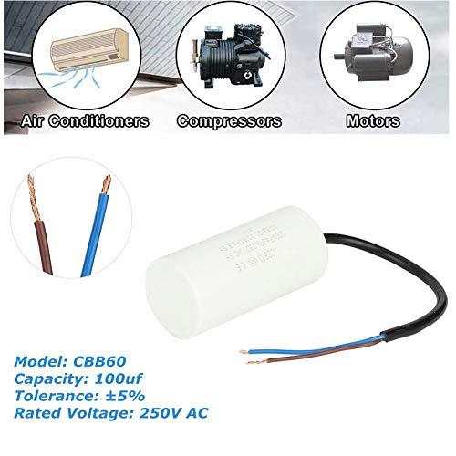 CBB60 condensator 250 V 100 uf, Jectse bedrijfscondensator motorcondensator met goede slagvastheid, sterke overbelastbaarheid voor airconditioning, compressoren en motoren