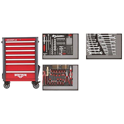 GEDORE red Werkzeugsatz im Werkstattwagen WINGMAN 129-teilig