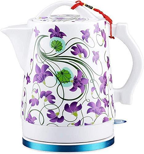Bouilloires bouilloire électrique en céramique, sans fil 1.7 Litres Tea Pot, Arrêt automatique à sec Protection-Boil, 1500W rapide 8bayfa