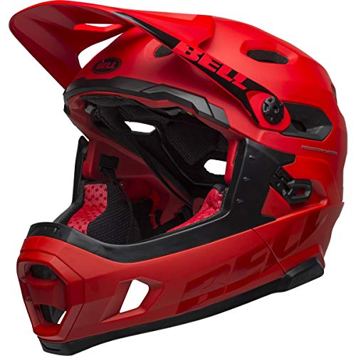 Bell Unisex - Super DH MIPS Casco de Bicicleta Mat/Gloss Crimson/Black, S