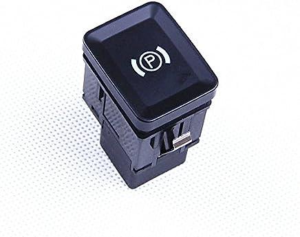 frein /à main Bouton de commutateur de frein de stationnement Bouton de cache autocollant pour 09-14 5//6 s/éries 61312822518 Aramox Couvercle de bouton de commutateur de voiture