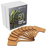50 Bamboo Plant Labels in Gift Box (T-Type) - Plant Tags - Cheese...
