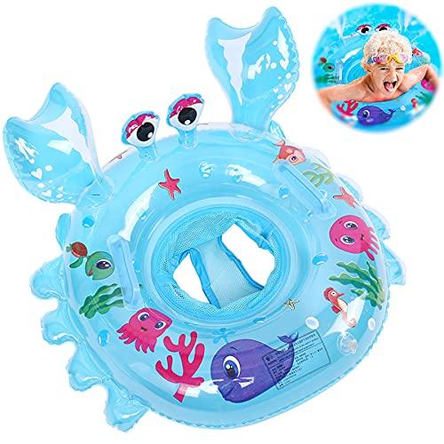 Baby Schwimmring,Schwimmsitz Kinder,Baby Aufblasbarer Schwimmreifen,Schwimmreifen Spielzeug,Pool Baby Schwimmen Ring,Baby Schwimmring Aufblasbarer,Kinder Schwimmhilf (Krabbenblau)