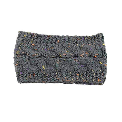 Single Trendy Soft Headbands for Womens Warm Knitting Bow Headband Elasticity Sports Yoga Gym Exercising Running Headband for Washing Face makeup (One Size,M)