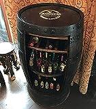 Barra de whisky rústica de roble macizo Guinness marca Barril de whisky