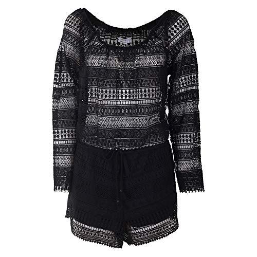 Brigitte Bardot Luxury Fashion Damen BB50070BK Schwarz Polyester Kleid | Jahreszeit Outlet