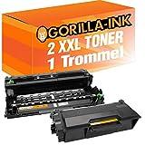 Gorilla-Ink 1 Drum e 2 Toner per Brother DR-3400 TN-3480 L5500DN L6600DW L5000D L5100DN L5100DNT L5100DNT L5200DW L6200DN L6300DW L6400DW L6400DWTT L5700DN L5750DW L6800DW L6800DWT L6900DW
