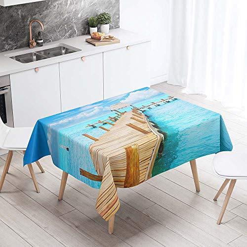 Enhome premium rechthoekig tafelkleed, Waterdichte Oliebestendig Vlekbestendig Stofdicht, tuintafelkleed voor gastronomie, feesten, bruiloften of huishouden (Gele plank,90x90cm)