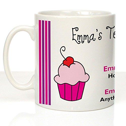 Tea Time Treats Personalizable té café Leche Taza de azúcar, Personalizable Tazas for Her, Funky Tazas de café