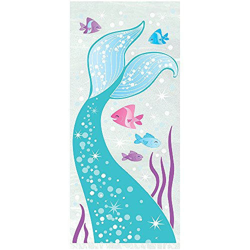 "Unique Mermaid Cellophane Bags, 20ct, Multicolor, 11"" x 5"" - 58333"
