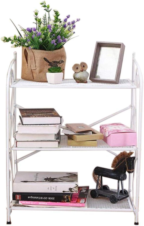JCAFA Shelves Bookshelf Save Space Floor-Standing Bookshelf Living Room Bathroom Kitchen Storage Rack (color   White, Size   23.86  12.20  27.55in)