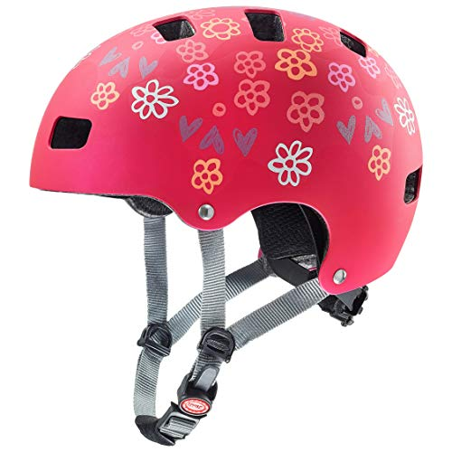Uvex Unisex Jugend, kid 3 cc Fahrradhelm, dark red, 51-55 cm