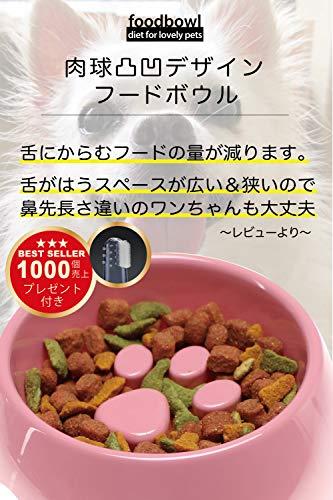 『早食い防止で健康管理!ペットフードボウルLサイズ』