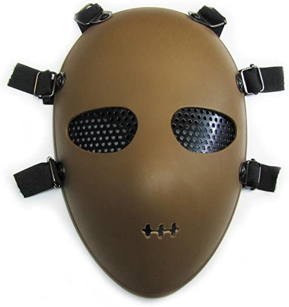 Presentz Alien - Máscara facial protectora (seguridad ante impactos, para airsoft, paintball, etc.)