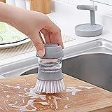 SSJIA Küchenbürste Topfbürste mit flüssiger Pfannenbürste Dekontamination Reinigung...