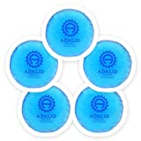 Small Round Gel Ice Packs with Cloth Backing for Hot or Cold Therapy - Perfect for Wisdom Teeth, Tired Eyes, Headaches, Kids Injuries & Baby Aches (Flexible, Reusable, Multipurpose 5-Pack