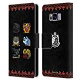 Head Case Designs Officially Licensed Monster Hunter World Elder's Recess Icons Leather Book Wallet Case Cover Compatible with Samsung Galaxy S8
