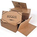 KARRES (QTY 200) Kraft Brown Table Name Cards Place Cards, 3.5 x 2 Inches Small Size Tent Escort Cards, Seating Tent Cards for Weddings, Dinner, Party, Banquets Food Labels