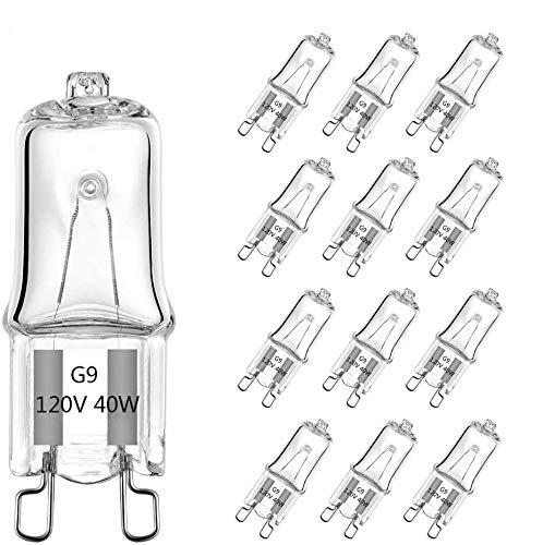 G9 Halogenlampen,Halogen Stiftsockellampe,Signalleuchten,Kapsel Lampe,Halogen Glühbirnen für Herdbeleuchtung,Warmweiß,Energieklasse C,220-240 V