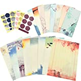 OFNMY Letter Writing Set, Stationery Paper and Envelopes Set (64 Stationery...